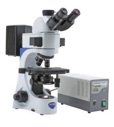 Microscópio vertical laboratorial para fluorescência